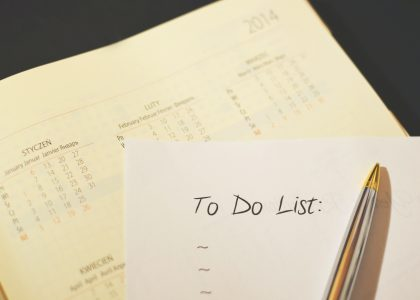 Agenda-to-do-list-pen